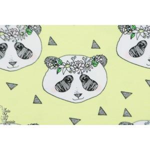 jersey bio Bloome Flower Panda Yellow jaune animaux enfant