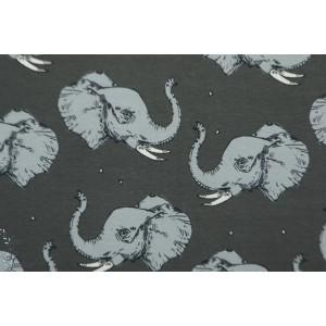 jersey Bio Bloome Majestic Elephant aniamux graphique enfant orgnique gots gris