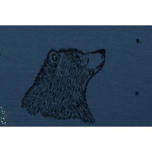 Sweat bio Curios Bear dusty Bleu bloome ours graphique garçon enfant animaux