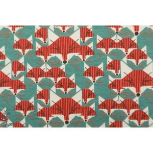 jersey Bio Birch Foxes grey renard graphique animaux