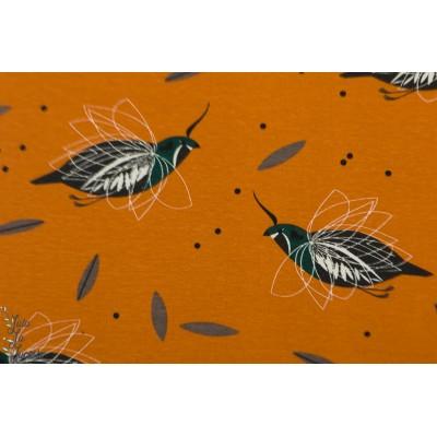 jersey bio Birch MOUNTAIN QUAIL charly harper western bird maron oiseau interlock