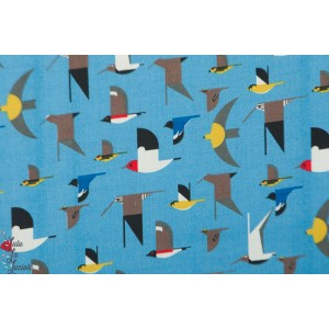 Double Gaze Bio Birch Birds Blue