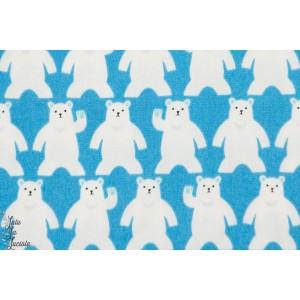 Ours polaire Blanc sur Bleu Sevenberry