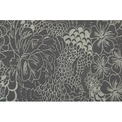 jersey laine Sommarfeel gris Lillestoff graphique fleur femme