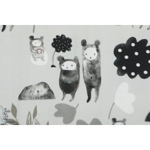Jersey bio Tale of three Bears and a cup of tea White histoire de 3 ours et une tasse de thé