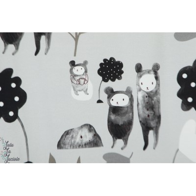 Sweat bio Tale of three bears and a cup of tee blanc story roo ours histoire pastel animaux poetique