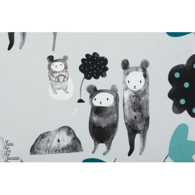 The Tale of three bears and a cup of tea bleu - Story of Roo ours animaux poetique enfant doux pastel