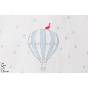 Coton Little Friends Ballons Bleu