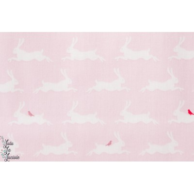 Coton Little Friends lapins roses de la collection «Little Friends» by Gütermann.