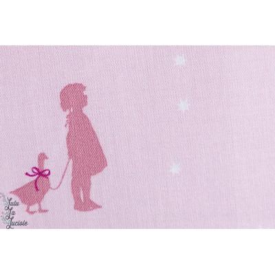 Coton  fillette et oie Gutterman de la collection «Little Friends» by Gütermann.