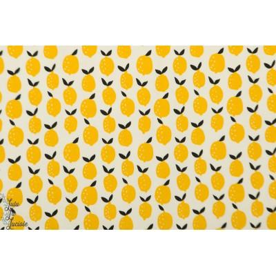 jersey Bio Lief lemon BORA Lillestoff citon jaune été graphique