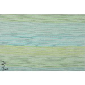 Jersey Bio Rayé  Buntstiftstreifen, grün SUSAlabim Lillestoff Bleu vert jaune