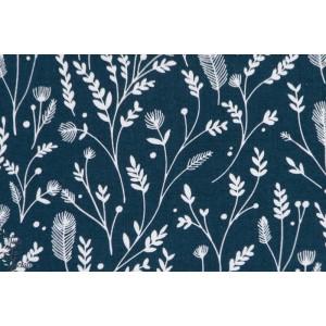 CUKO 1087 Navy cuckoo's calling dashwood studio popeline herbes bleu