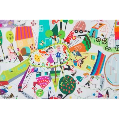 Popeline Inkalily le Village couleur dessin naif enfant raconte histoire