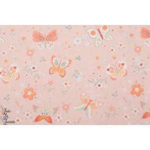 Popeline Studio E Papillon rose bunny tales campagne patch mavada