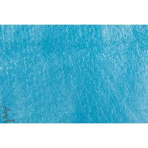 Tissu bio  Imperméable Jersey Bleu Lillestoff.