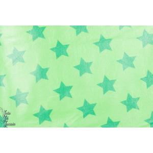 Tissu Imperméable Etoiles Vert