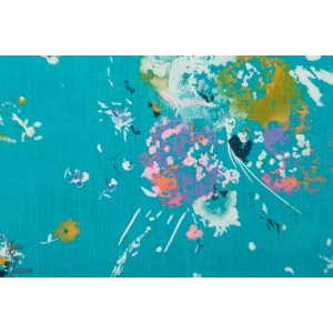 Lin Nani Iro Encouter on Blue  nani iro 2018 fleur peinture art tableau couleur