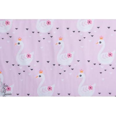 Jersey cygnes couronnés rose