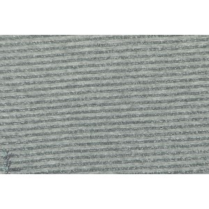 Jersey rayé Lurex gris 3mm