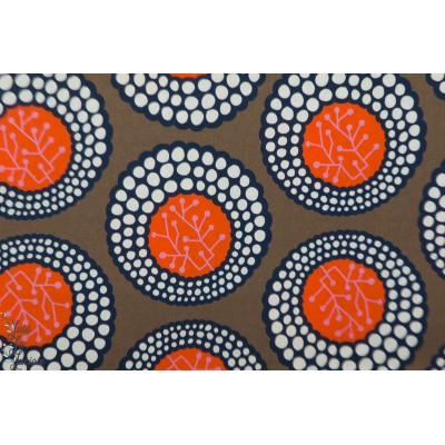 Popeline Ayna Hambuger Liebe chocolat wax afrique coton femme été couleur rond graphique