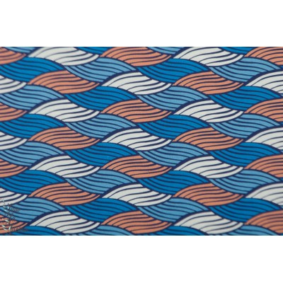 Popeline Afeni hambuger liebe bleu ama afrique wax graphque mode femme