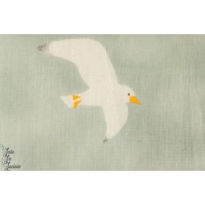 Seagulls sur fond Bleu vert