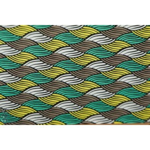 Jersey Viscose Afeni moka mint Hambuger liebe wax ama graphique vague femme mode été vert