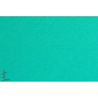 Jersey Bio Emeraude , Smaragd , turquoise,bleu-vert Stoffonkel