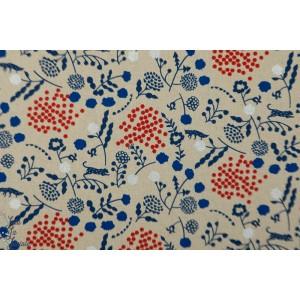 Coton Lin Echino SPROUT bleu et rouge