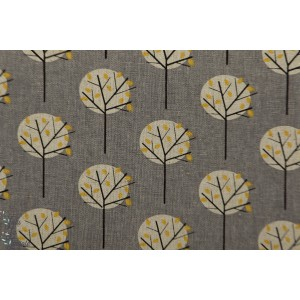 Chalk Hill Tree coton Lin Dashwood Studio rétro vintage arbre graphique nature