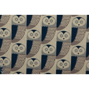 Chalk Hill Owl Coton Lin Dashwood Studio graphique chouette rétro vintage nature