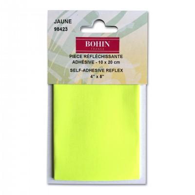 Pièces réfléchissante Bohin 10*20cm jaune fluo