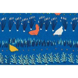 Homestead : Poules dans le Potager , coton Bio par Birch