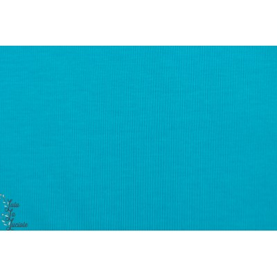 jersey bio uni turquoise lillestoff bleu