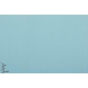 Popeline Unie Soft Cactus bleu clair