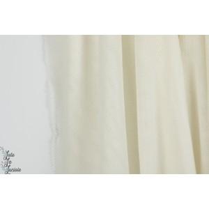 Tulle bio off white Cpauli blanc léger souple