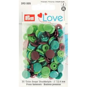 Love boutons pressions plastique veet marron Prym love 393005