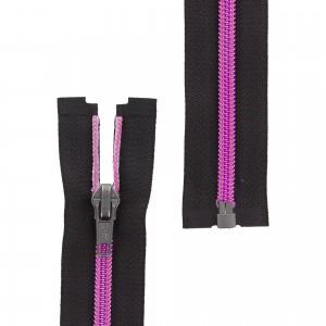 Fermeture éclair Z92 Séparable métallisée noire/rose 50cm