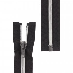 Fermeture éclair Z92 Séparable métallisée noir/argent 50cm