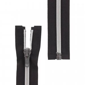 Fermeture éclair Z92 Séparable métallisée noir/argent 45cm