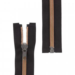 Fermeture éclair Z92 Séparable métallisée noir/saumon 40cm