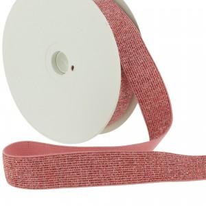 ceinture Elastique Lurex 20mm Fushia