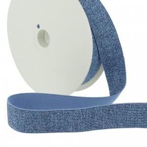 ceinture Elastique Lurex Bleu 20mm