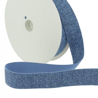 9bae47d6d1d8 ceinture Elastique Lurex Bleu 20mm