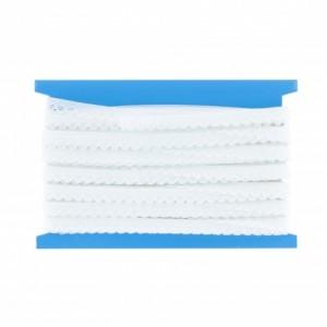 Bordure elastique  fantaisie 10mm blanc