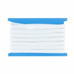 Bordure élastique  fantaisie 10mm blanc