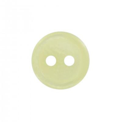 Bouton 11 mm classique 2 trous jaune