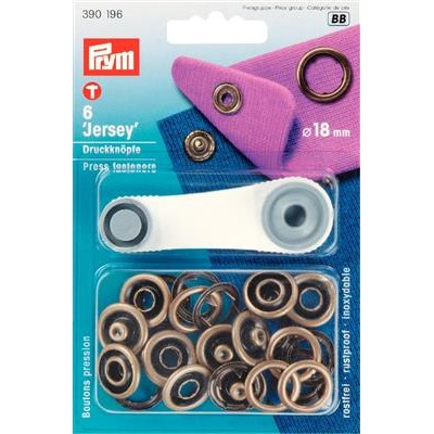 BOUTONS PRESSION JERSEY 18mm LAITon prym 390196
