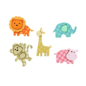 Boutons Baby Safari Jungle